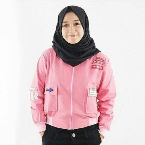 Baju Muslim Original Jacket Bruni Jaket Wanita Modern Simple Atasan Wanita Pakaian Jaket Casual Luaran Modern Trendy Terbaru 2018