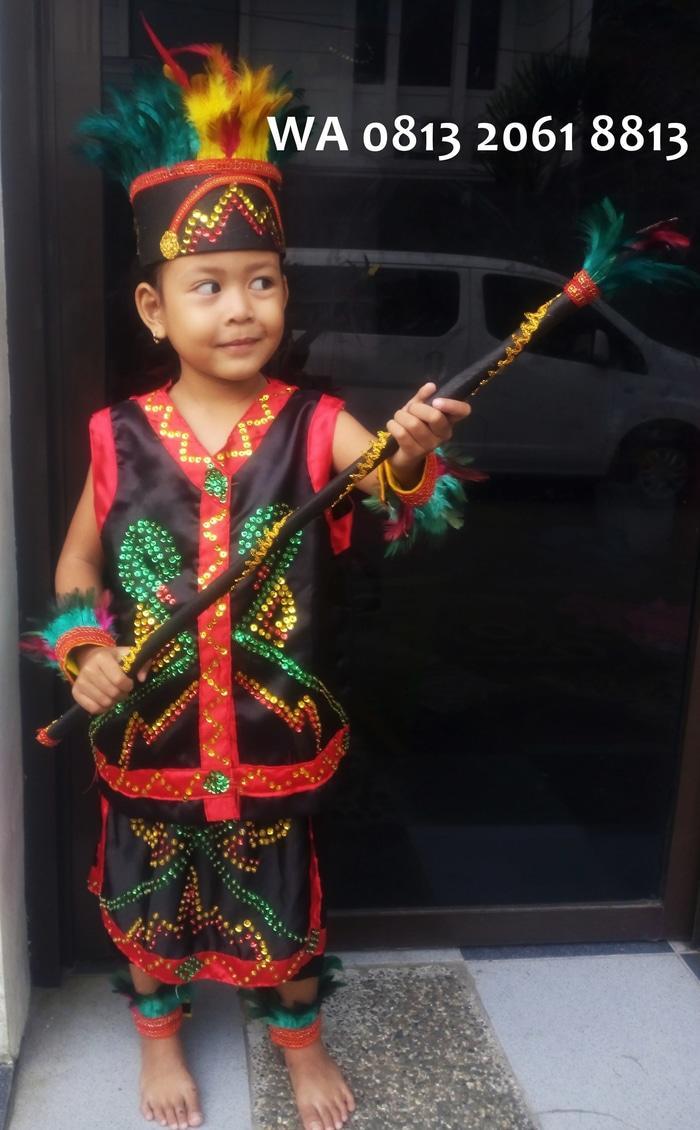 Terbaru! Dayak Tk Wanita Lengkap | Baju Adat Kostum Anak Karnaval Parade Pawai - ready stock