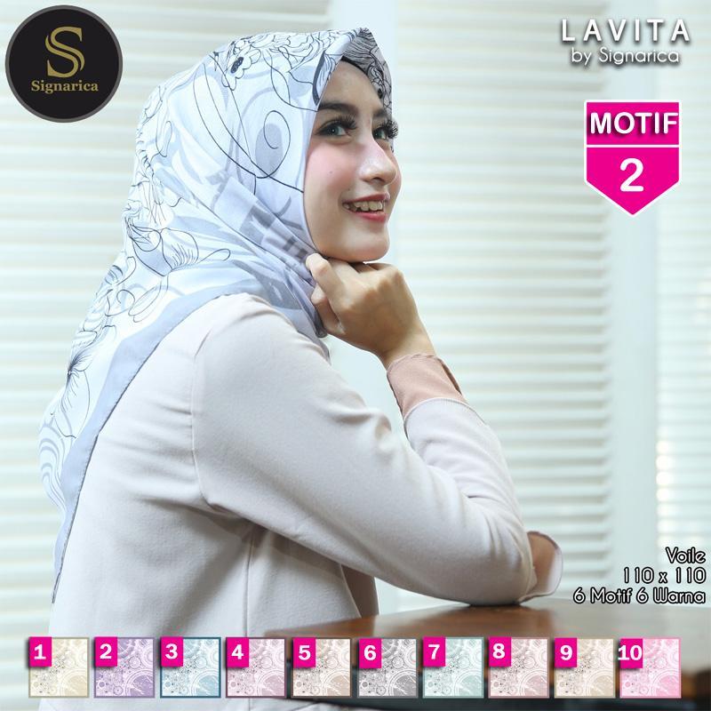 Hijab Segi Empat LAVITA 2 By SIGNARICA - Jilbab kerudung MOTIF