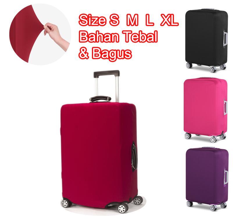 Premium Sarung Koper Elastis Luggage Cover Elastic Pelindung Koper Polos  Bahan Tebal 158d5c09a7