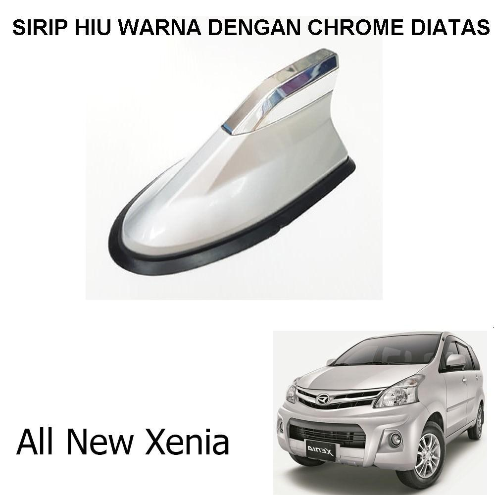 Antena Sirip Hiu Mobil All New Xenia Universal Warna Dengan Chrome Diatas