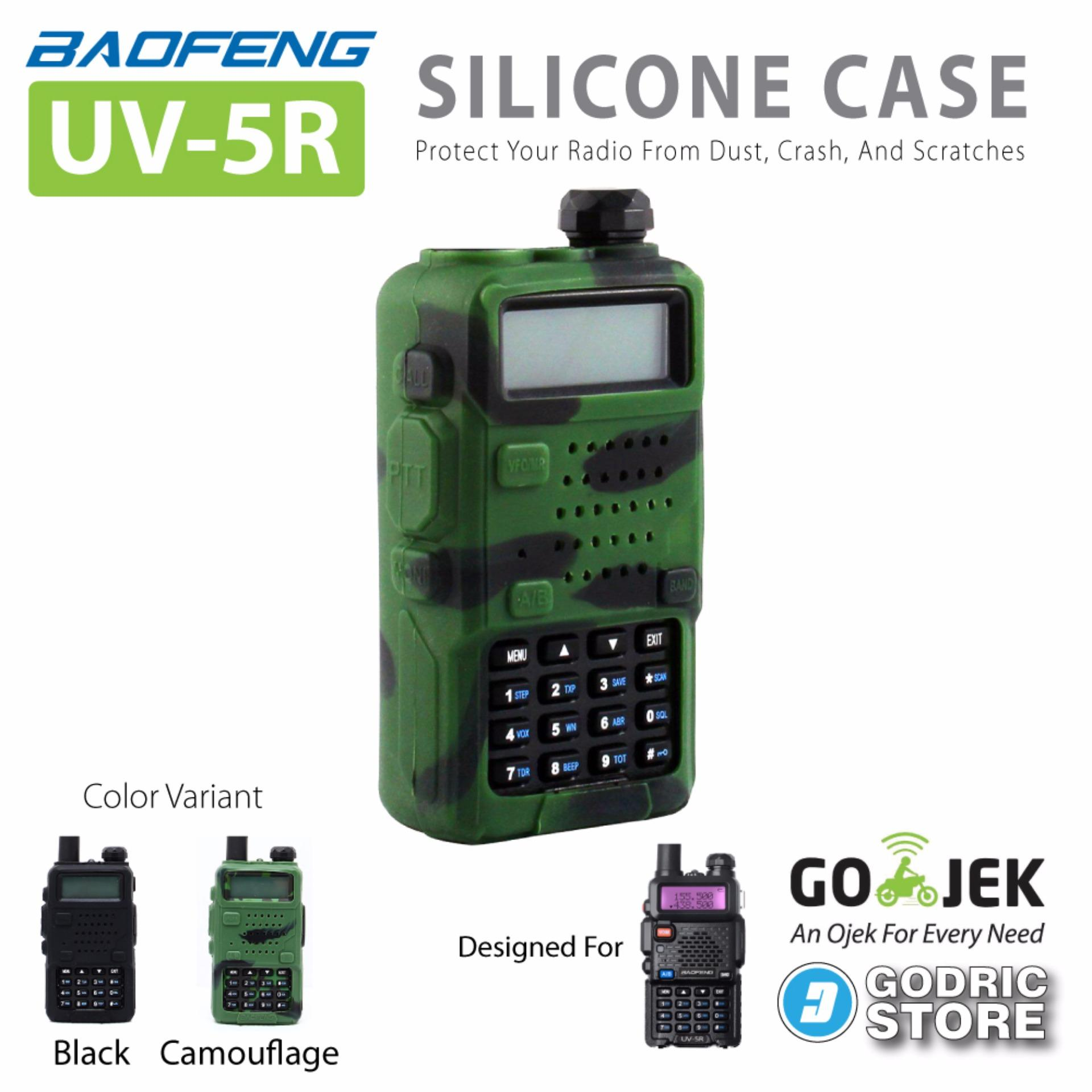 Baofeng UV-5R Silicone Case / Sarung Silicon - Camouflage