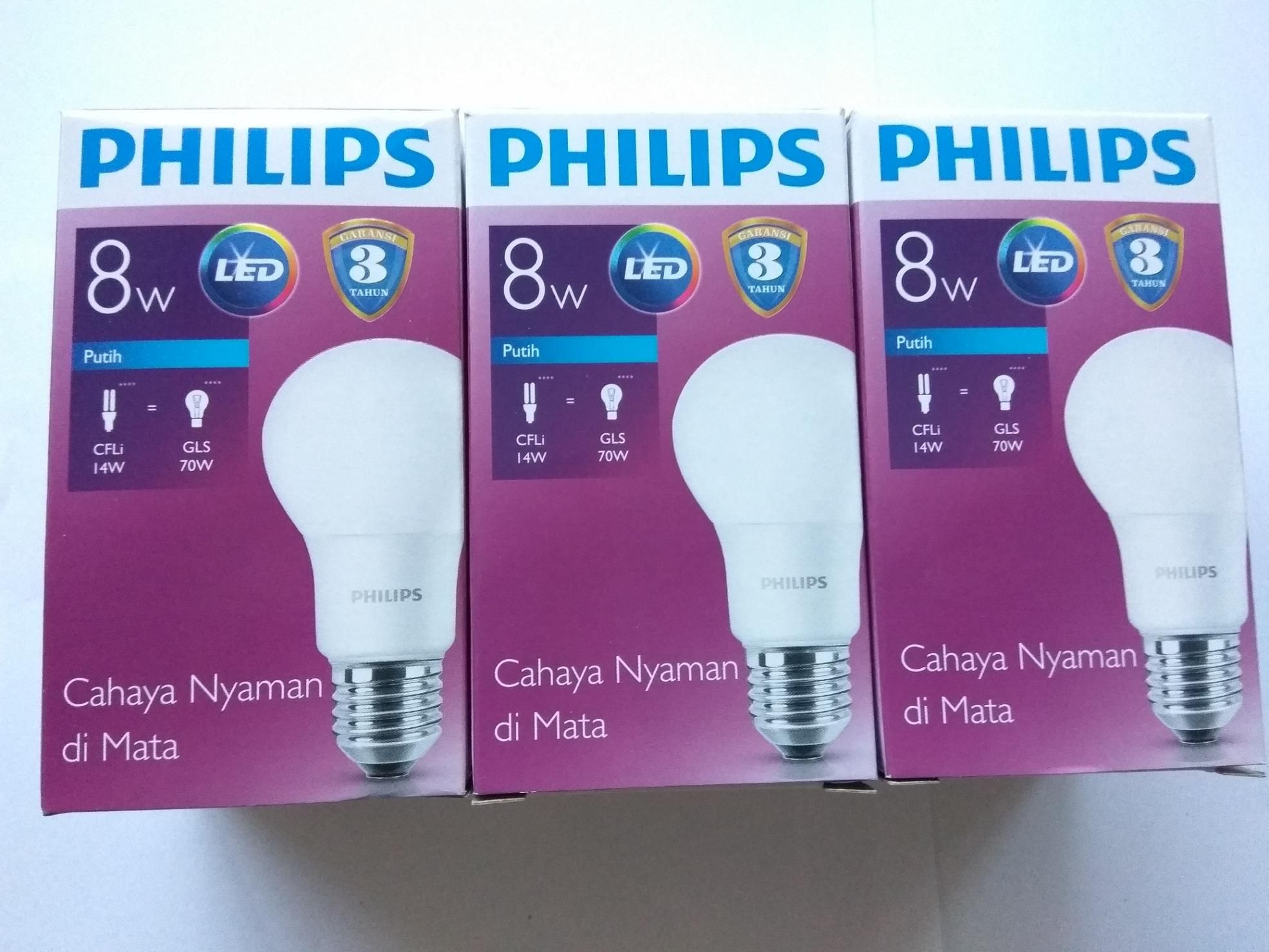 Buy Sell Cheapest Led Philips 9w Best Quality Product Deals Lampu 8w Paket 3pcs White Pengganti