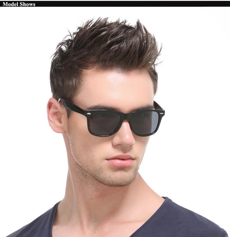 Kacamata Gaya Sunglasses Vintage Retro Classic Fashion Hitam Black Man Sunglasses
