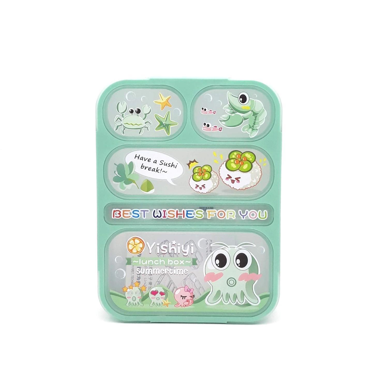 Jual Produk Yooyee Kotak Makan Lunch Box Sup Bento Hijau Grid 5 Sekat Anti Bocor Karakter