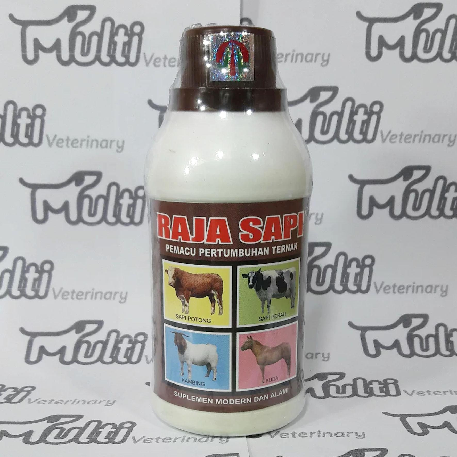 Obat Vitamin Sapi Raja Sapi 250 Ml Penggemuk Pemacu Pertumbuhan Ternak Sapi-Kambing-Kuda By Multi Veterinary.