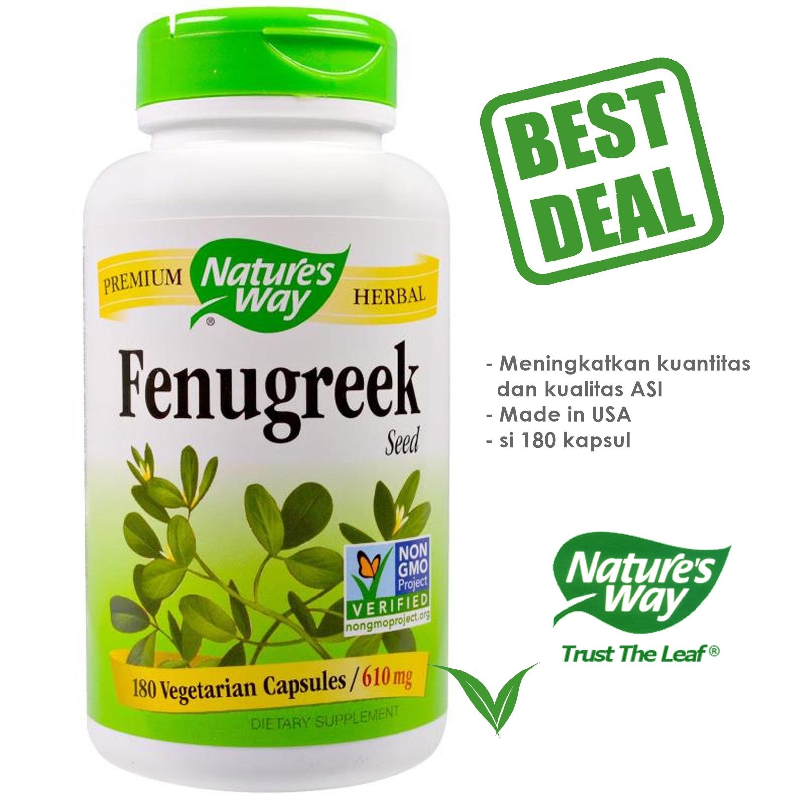 Nature s Way Fenugreek (Pelancar Asi / Asi Booster) - 180 kapsul