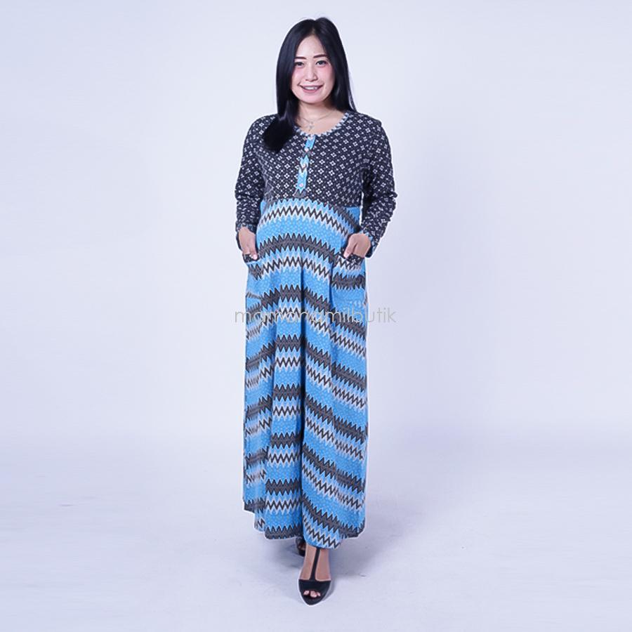 Ning Ayu Gamis Hamil Kaos ZigZag - GMS 251 / Baju Menyusui Lengan Panjang / Baju Atasan Menyusui / Baju Menyusui Muslimah / Baju Muslim Wanita untuk Ibu Menyusui/ Baju Hamil Untuk Kerja / Baju Hamil Untuk Kerja Modis