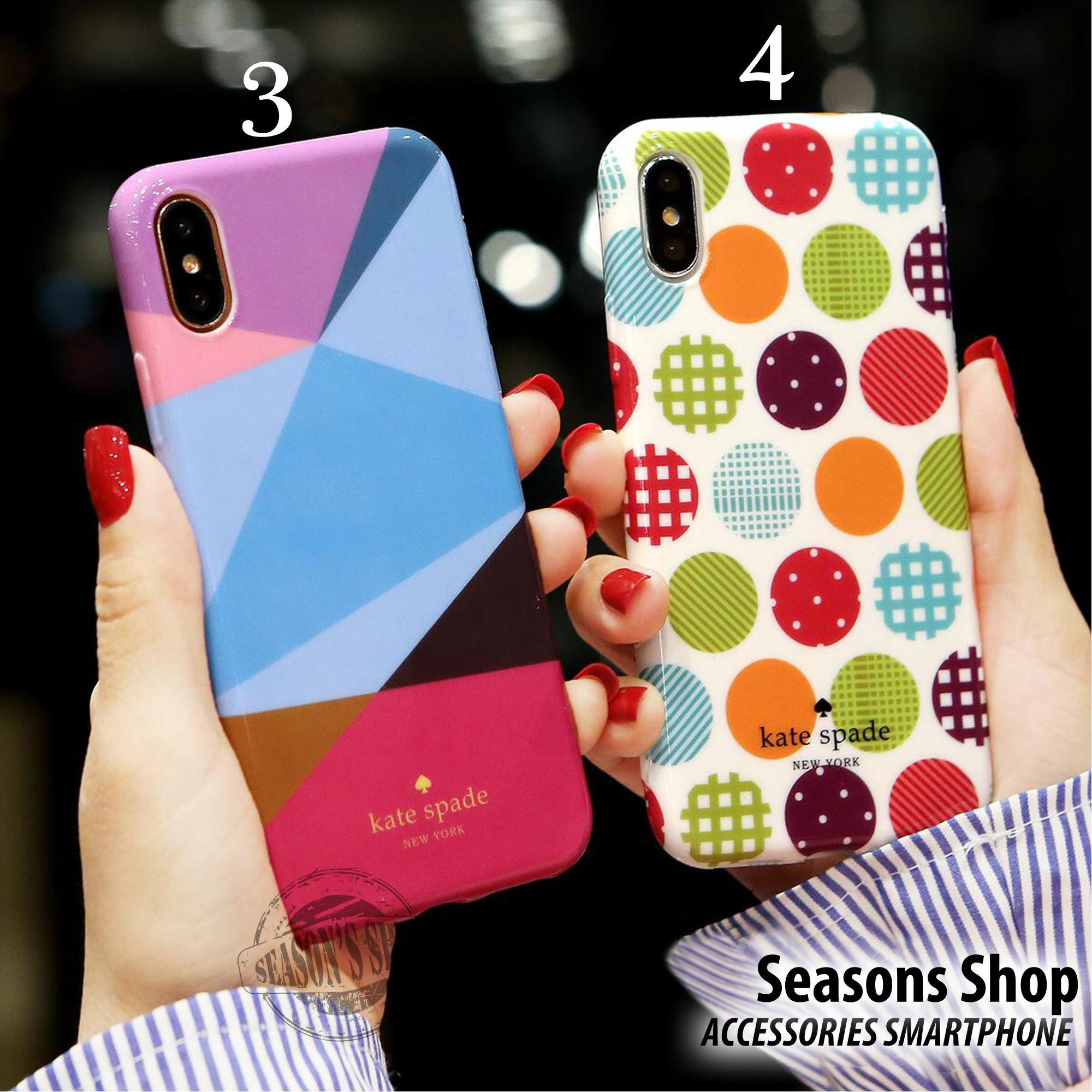 Seasons Softcase Katespade Full Glossy IMD For Smartphone Oppo F7 (RANDOM)