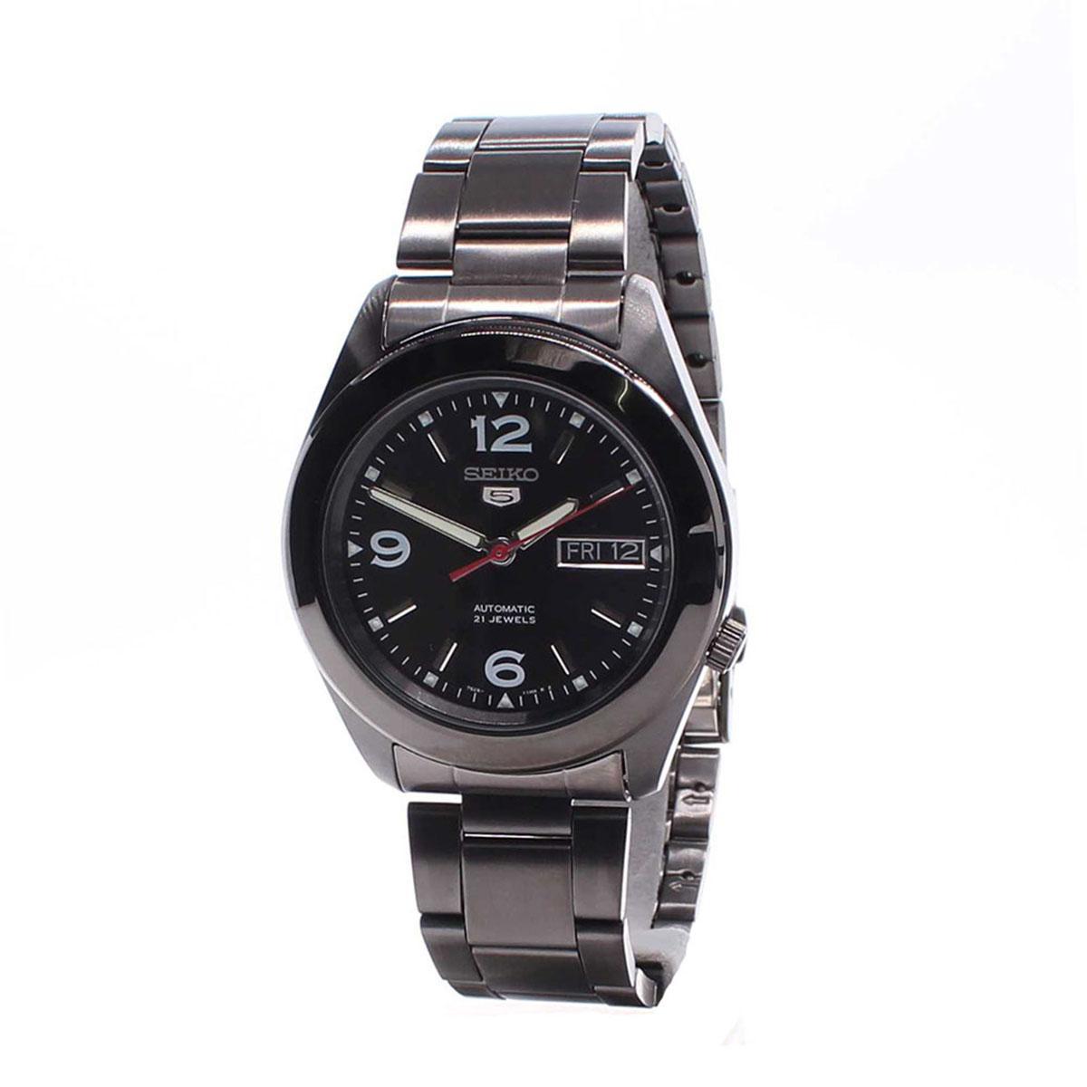 Rp 1.401.900. Seiko Seiko 5 Automatic Black Stainless-Steel Case Stainless-Steel Bracelet Mens NWT + Warranty ...