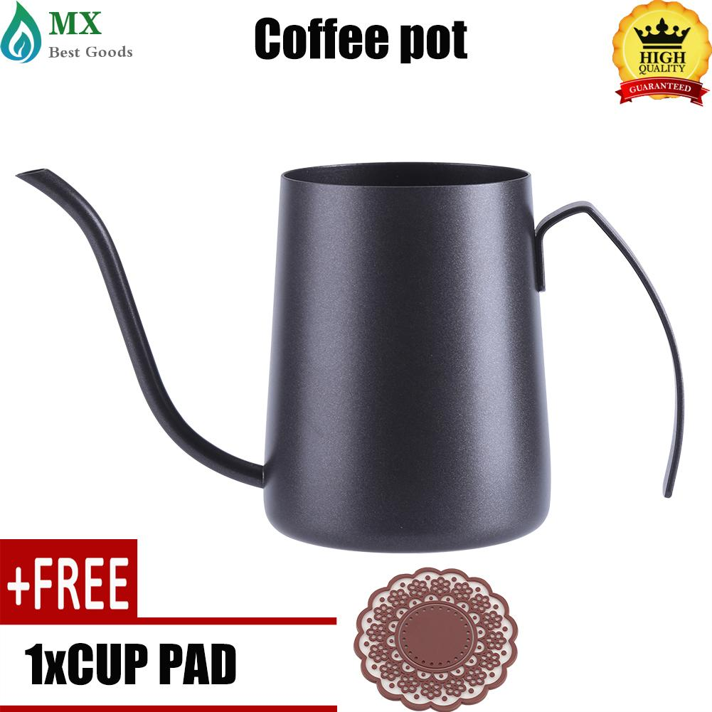 [buy 1 get 1 free gift] 350ML Stainless Steel Pour Hand Coffee Drip Pot