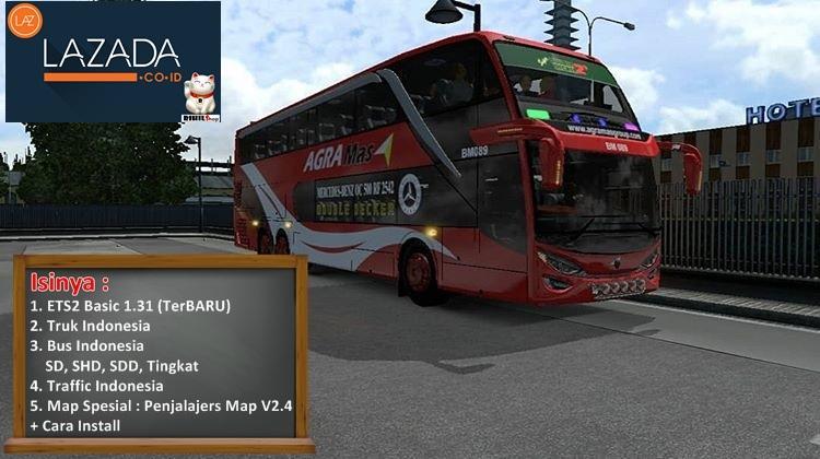 ETS2 1.31 Game Bus Truk Simulator Indonesia Map Penjalajers V2.4 Terbaru untuk PC Laptop