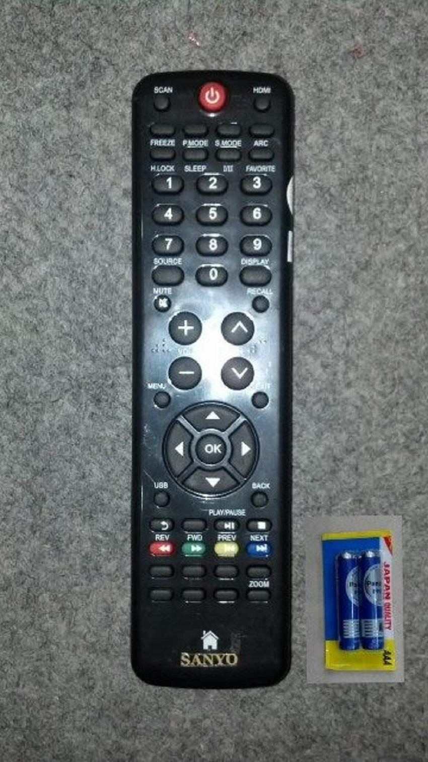 Sanyo / Haier Remote TV LED/LCD - Hitam