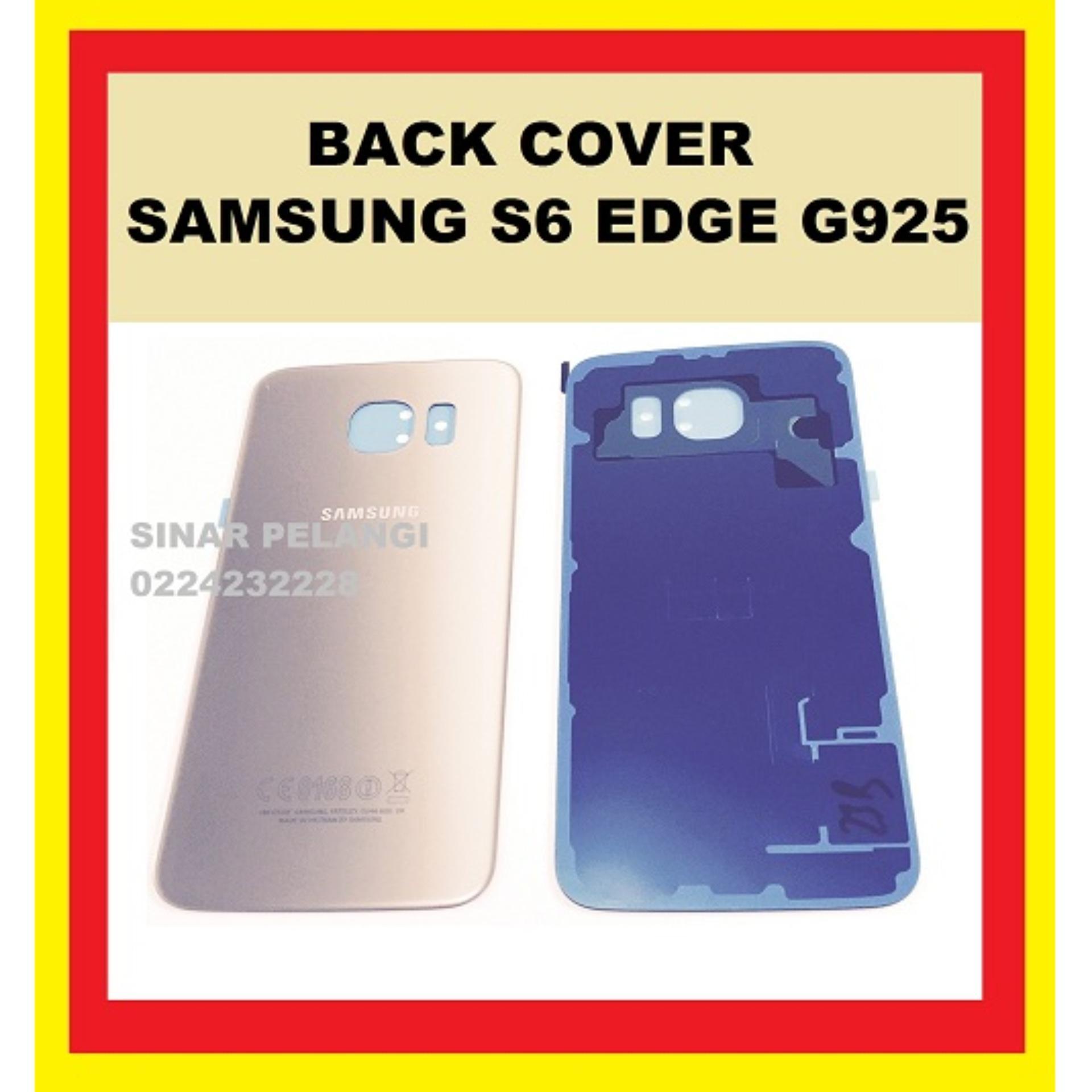 SAMSUNG GALAXY S6 EDGE G925 GOLD ORIGINAL BACK COVER BATTERY COVER TUTUP BATERAI PENUTUP BELAKANG 907436
