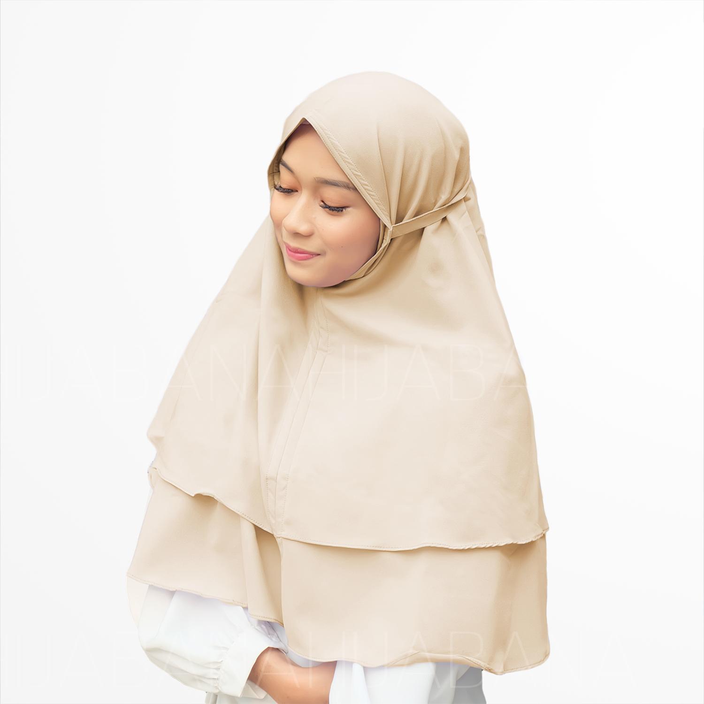 Jilbab Instan Jilbab Kerudung Khimar Bella 2 Layer - Khimar Bergo Dua layer - Hijab Instan Khimar B