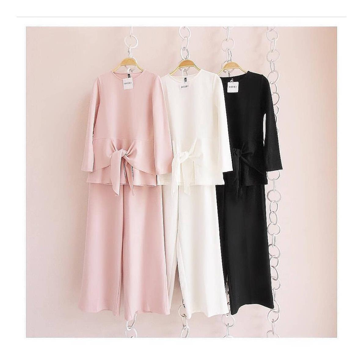 "Stelan Jumpsuite ""SF MARISTA SET""  Baju Panjang Muslim Hijab Moderen Pakaian Trand Baru 2018"
