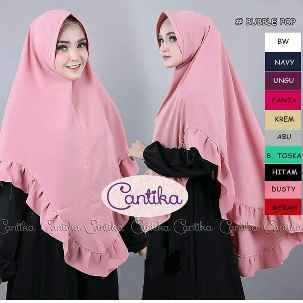 Jilbab Instan Murah Khimar Cantika / Hijab Syari / Vanila Hijab / Grosir Jilbab /Pashmina Instan