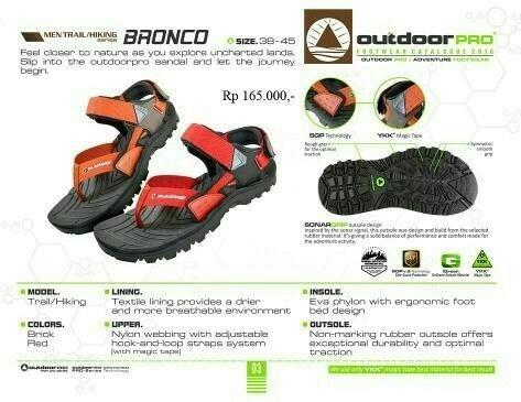 PROMO!!! Sandal gunung outdoor pro seri Bronco not eiger consina rei boogie - uegWNC