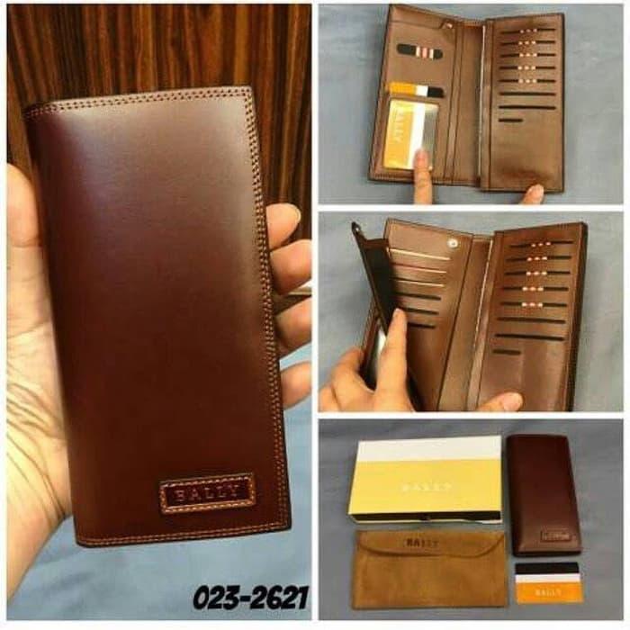 dompet pria dan wanita,bally super premium,import 100% asli kulit.
