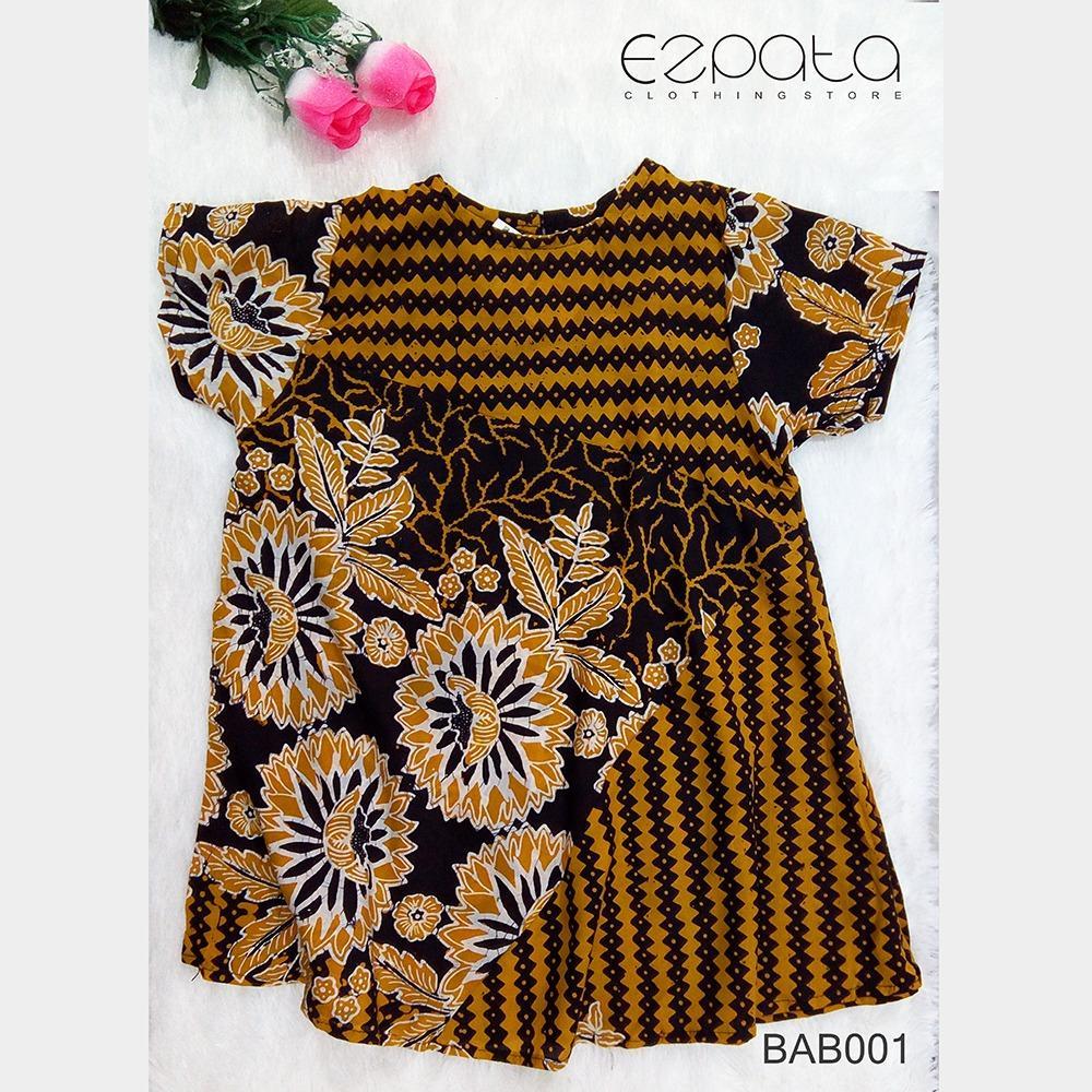 Ezpata Baju Batik Anak Perempuan / Dress Anak / Daster Anak Lucu