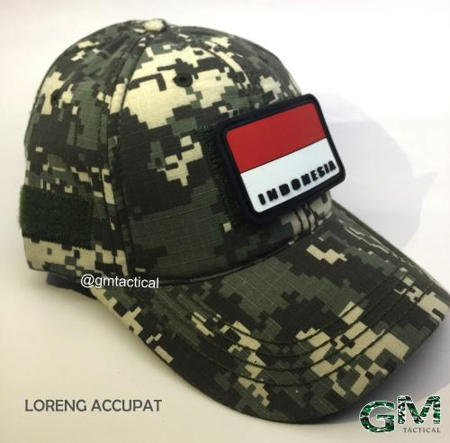 Topi Tactical With Velcro Loreng Free Patch By Grosir Militer.