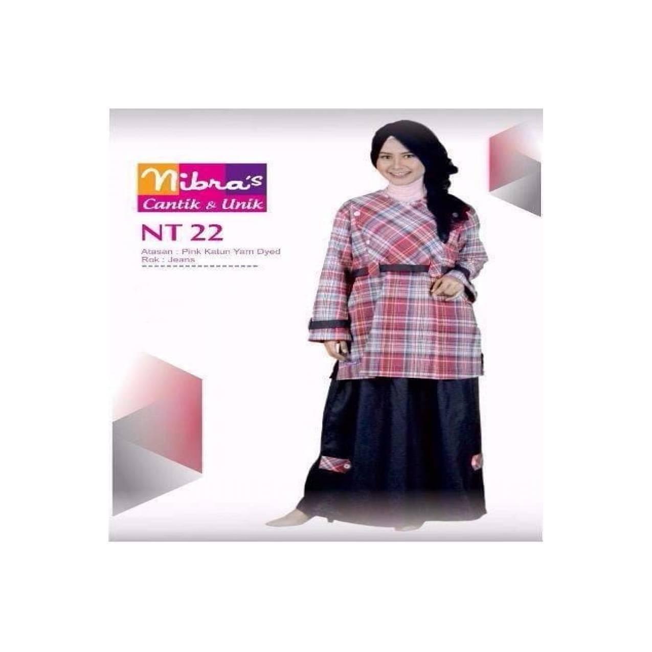 Gamis Remaja Setelan Nibras NT 22 Pink ORIGINAL Baju Anak Perempuan L