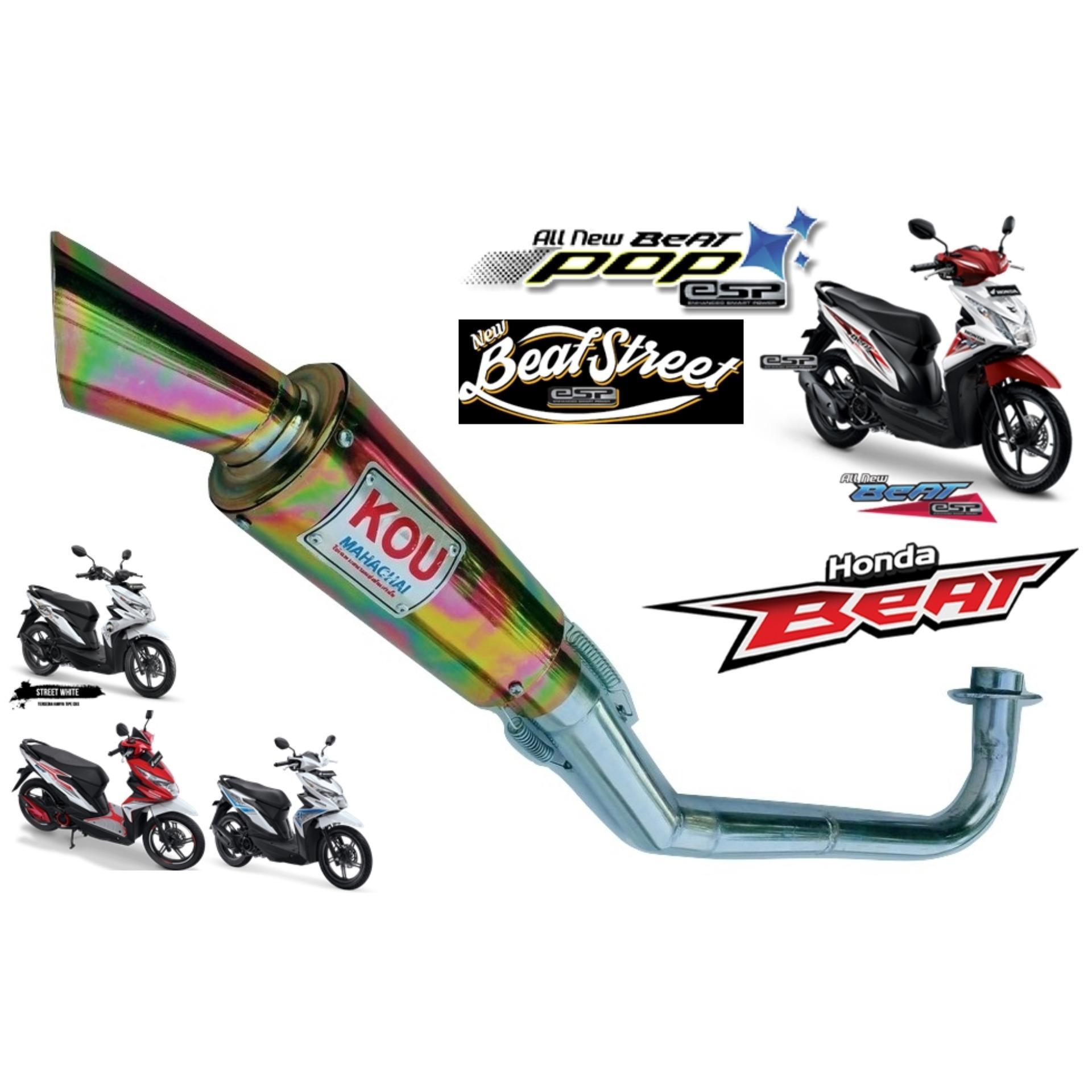 Jual Komponen Knalpot Emisi Kendaraan Lazada R9 Racing Assen Stainless Yamaha Scorpio Honda Tiger Exhaust Motor Beat Kou Gold