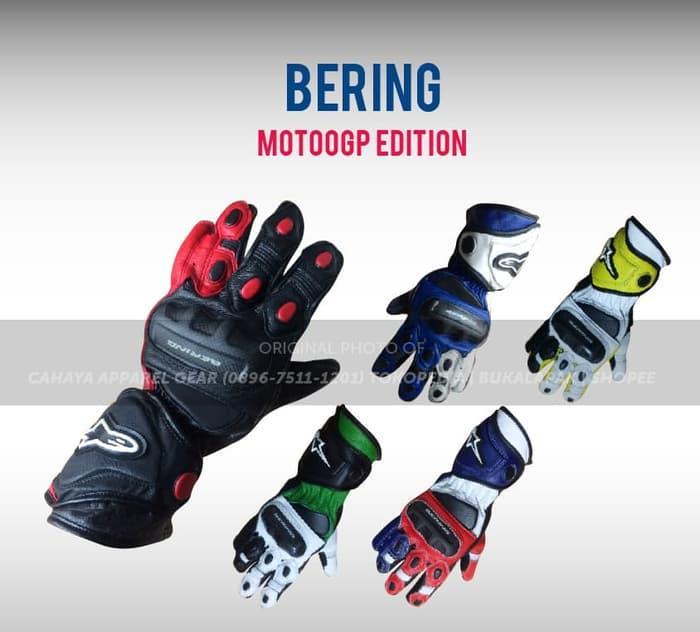 BEST SELLER!!! Sarung Tangan Balap - ALPINESTAR BERING MOTOGP - Keren Tebal Mantap - Fjl6u9