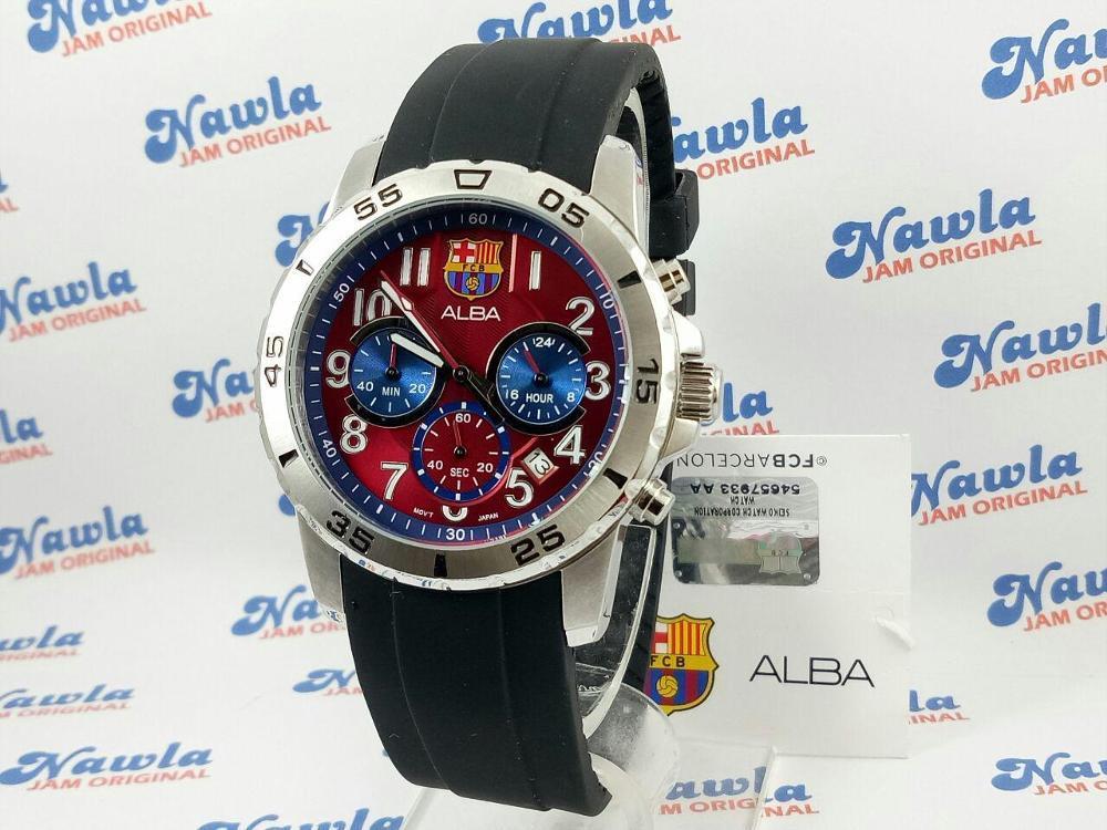 Alba AT3163X1 Chronograph FC Barca - Jam Tanga Pria AT3163