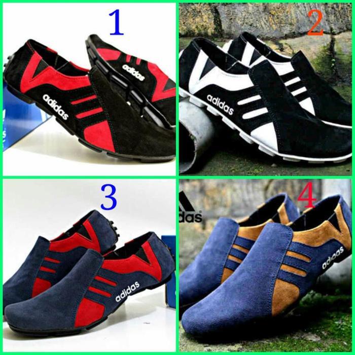 Sepatu Adidas Slip On Slop Suede Pria / Sepatu Casual P PREMIUM F0127 - 1KW3di