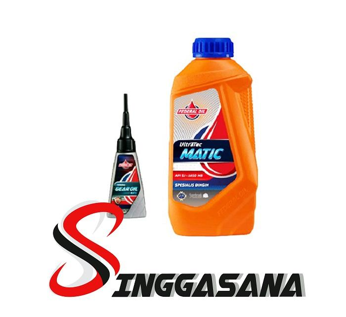 FEDERAL ULTRATEC MATIC 10W30 API SJ JASO MB SPESIALIS DINGIN DAN GEAR OIL 120 ML