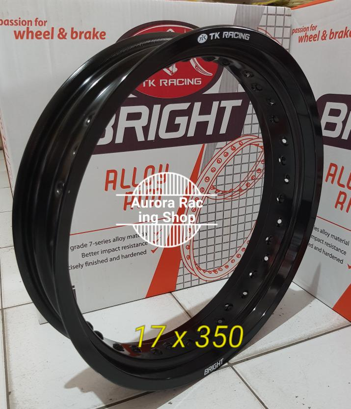 Velg TK Bright 17 x 350 Hole 36 Warna Black BEST SELLER