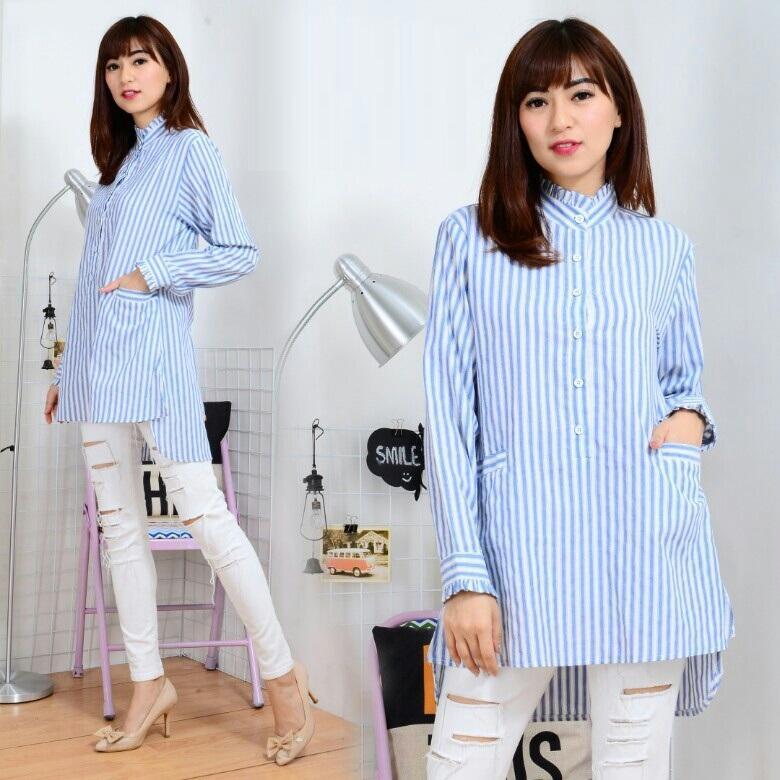 CGF Fashion - Baju Atasan Kemeja Wanita Sonya Bahan Kain Yanded