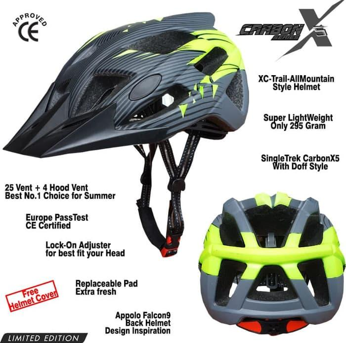 Helm sepeda SingleTrek Carbon X5 Stabilo