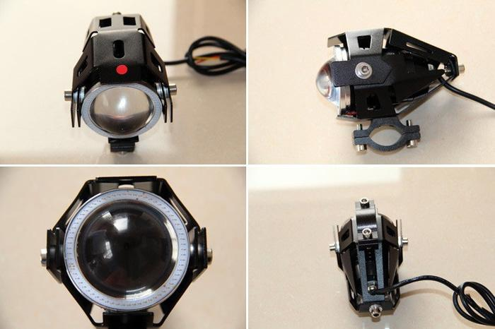 [BISA COD]LAMPU SOROT TEMBAK MOTOR LED CREE 6 TITIK BULAT 20 WATT 100 METER ECO
