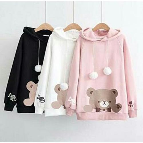 FJCO BC- SW Panda Pompom / Sweater wanita / Fashion wanita / Baju hangat wanita