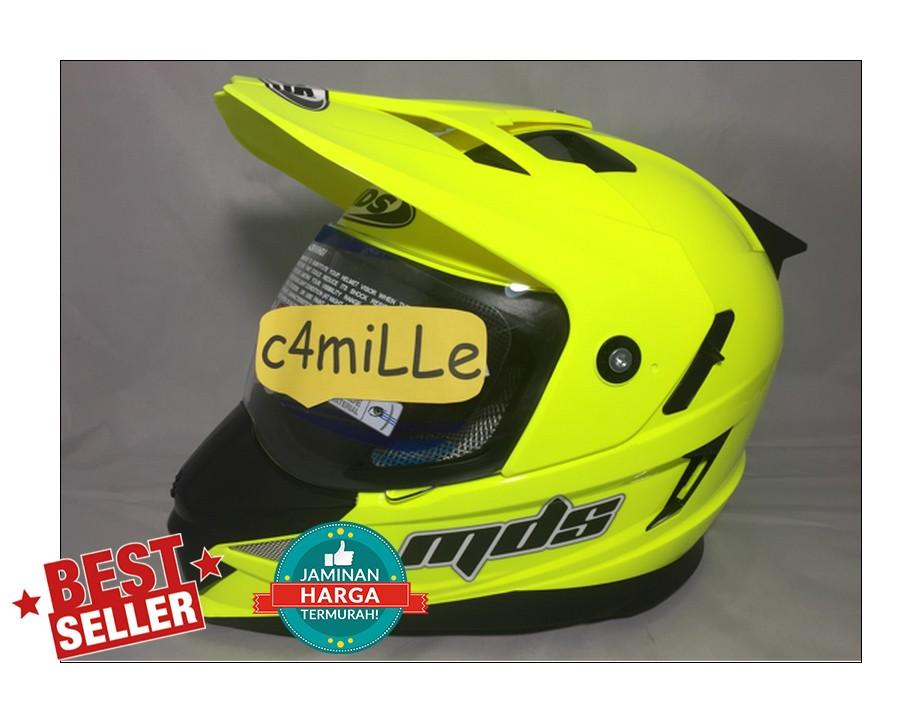 Helm MDS Super Pro double Visor Yellow Fluo