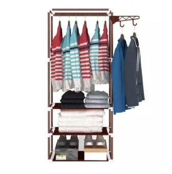 Beli sekarang EZY (CUCI GUDANG) 2in1 Multifungsi Stand Hanger Rak / Lemari Pakaian Serbaguna Tanpa Sarung / Penutup - Merah Maroon terbaik murah - Hanya ...