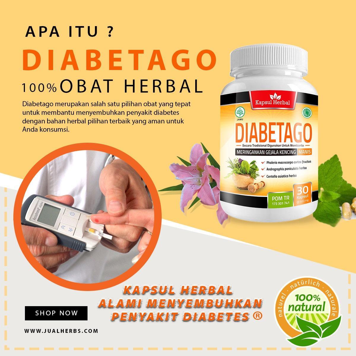 Bukan Jamu Jamsi Obat Diabetes Tapi Diabetago - Obat Diabetes Herbal Kapsul 50 Kapsul
