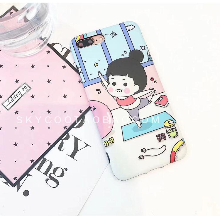 In Casing HP Iphone8 Jepang dan Korea Selatan Produk Baru Yoga Matte Shell 7 Plus Imut