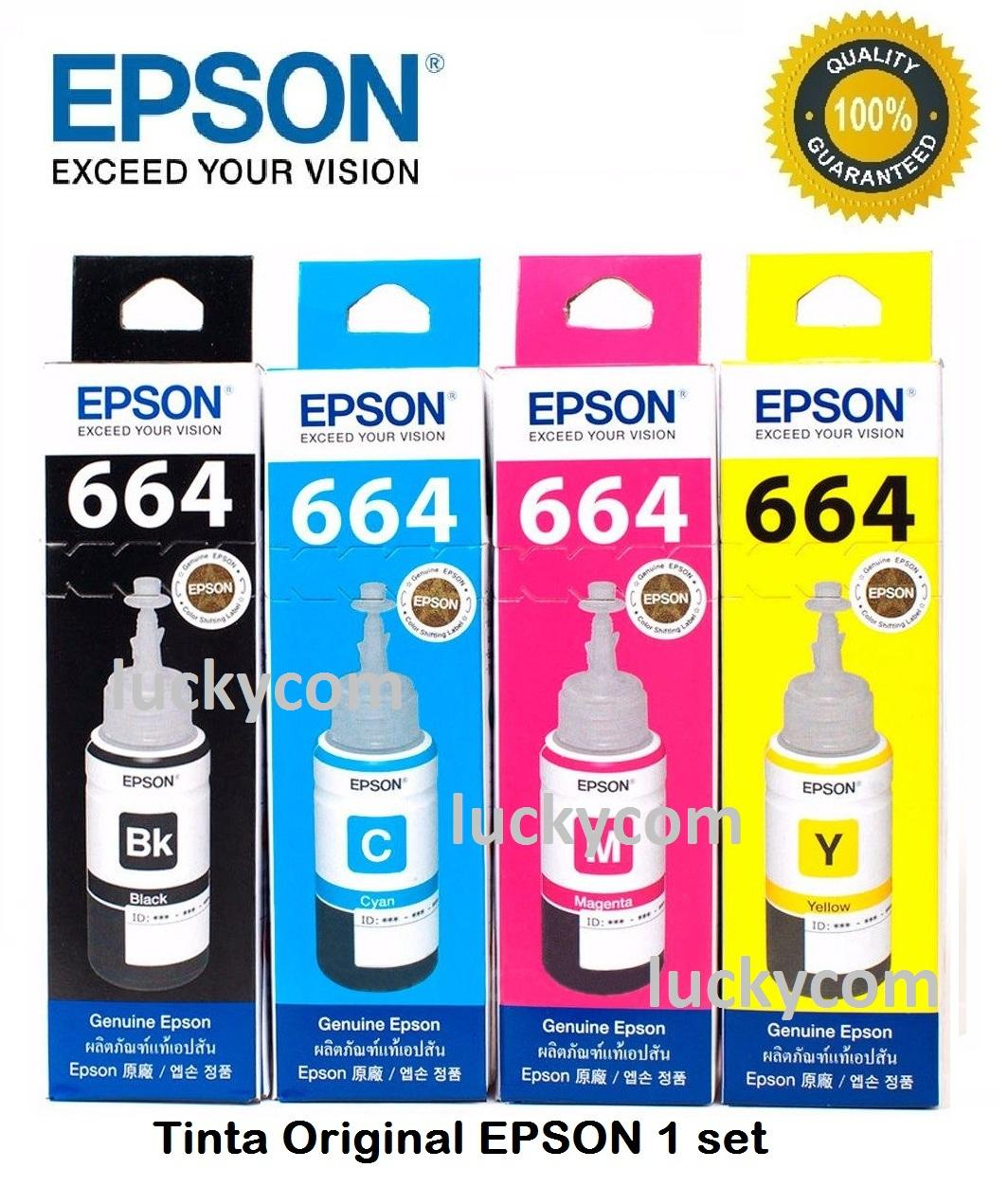 Tinta Epson T664 Series For Epson L 120 L220 L360