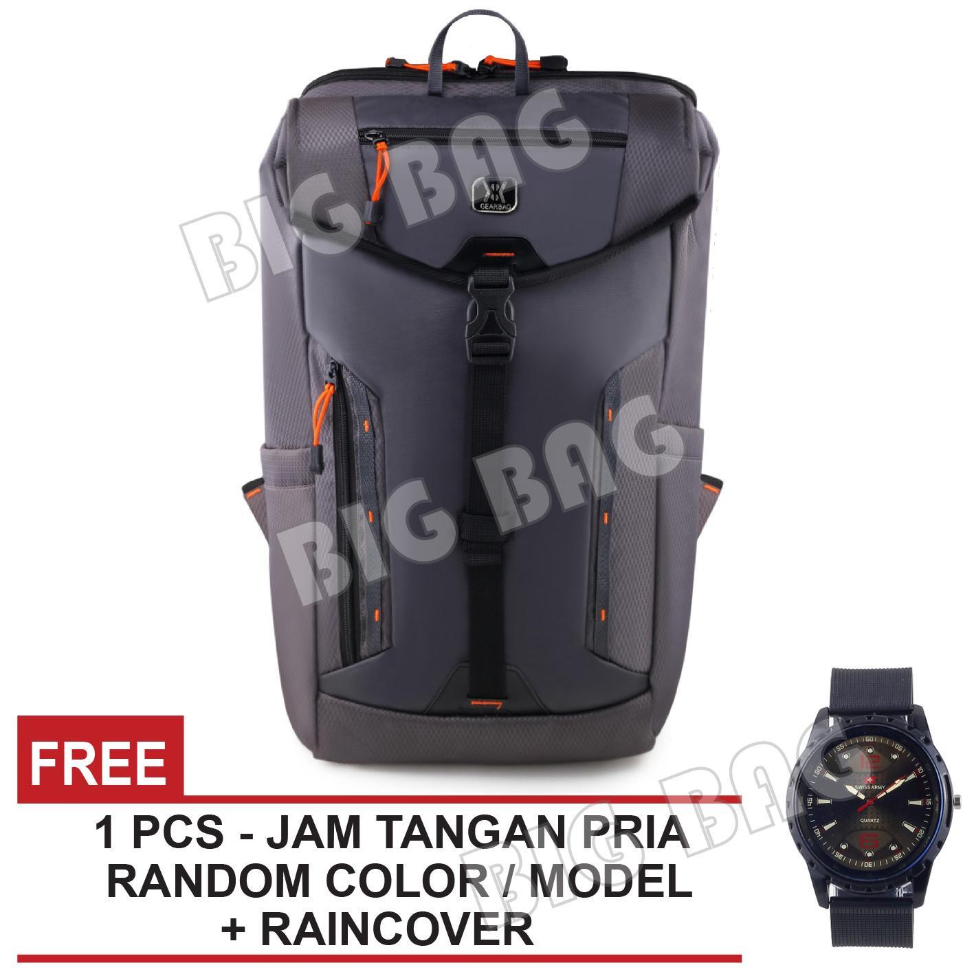 Tas Ransel Pria Gear Bag Kingdom Backpack + Raincover FREE Jam Tangan Pria  - Tas Gunung 45ddb96cbe