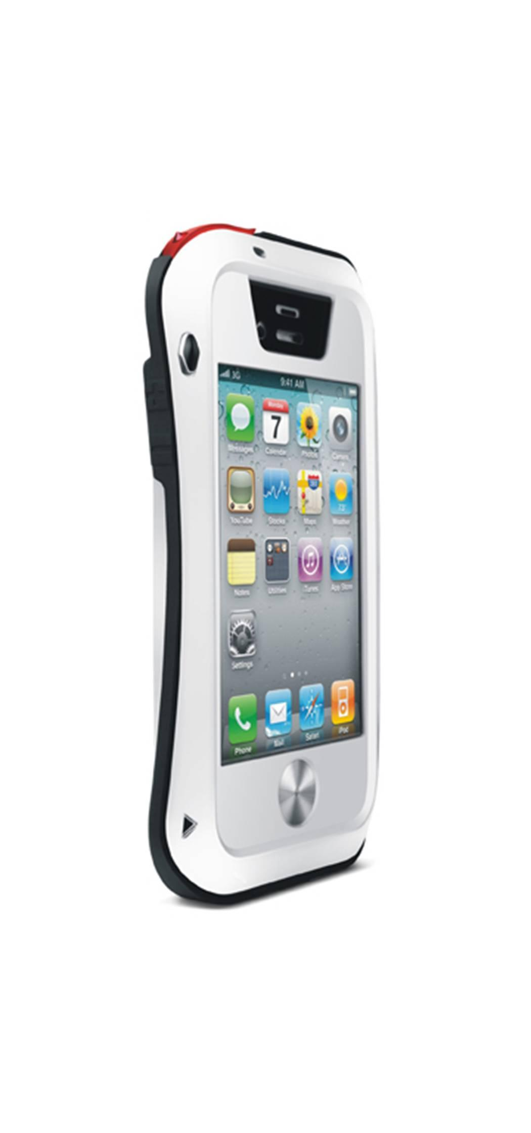 Love Mei Lunatik Aluminium Metal Bumper Iphone 4/4s - White