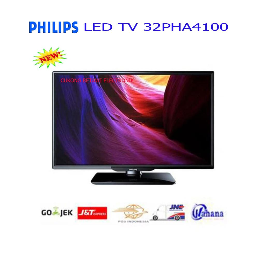 PHILIPS 32PHA4100 LED TV 32 INCH HD READY FLAT VGA HDMI USB-Resmi