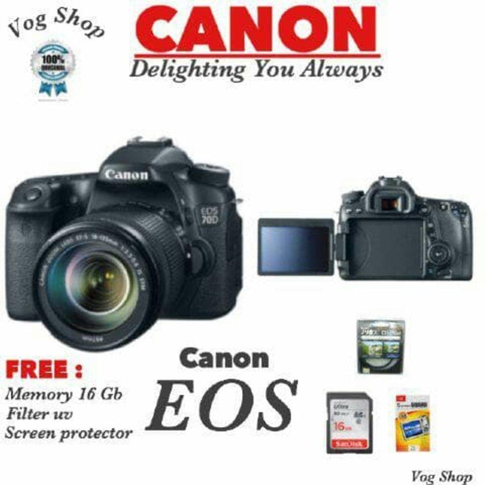 Canon Eos 80d Kit 18 135mm Is Usm Wifi Hitam Harga Terkini Dan 1300d 55mm Kamera