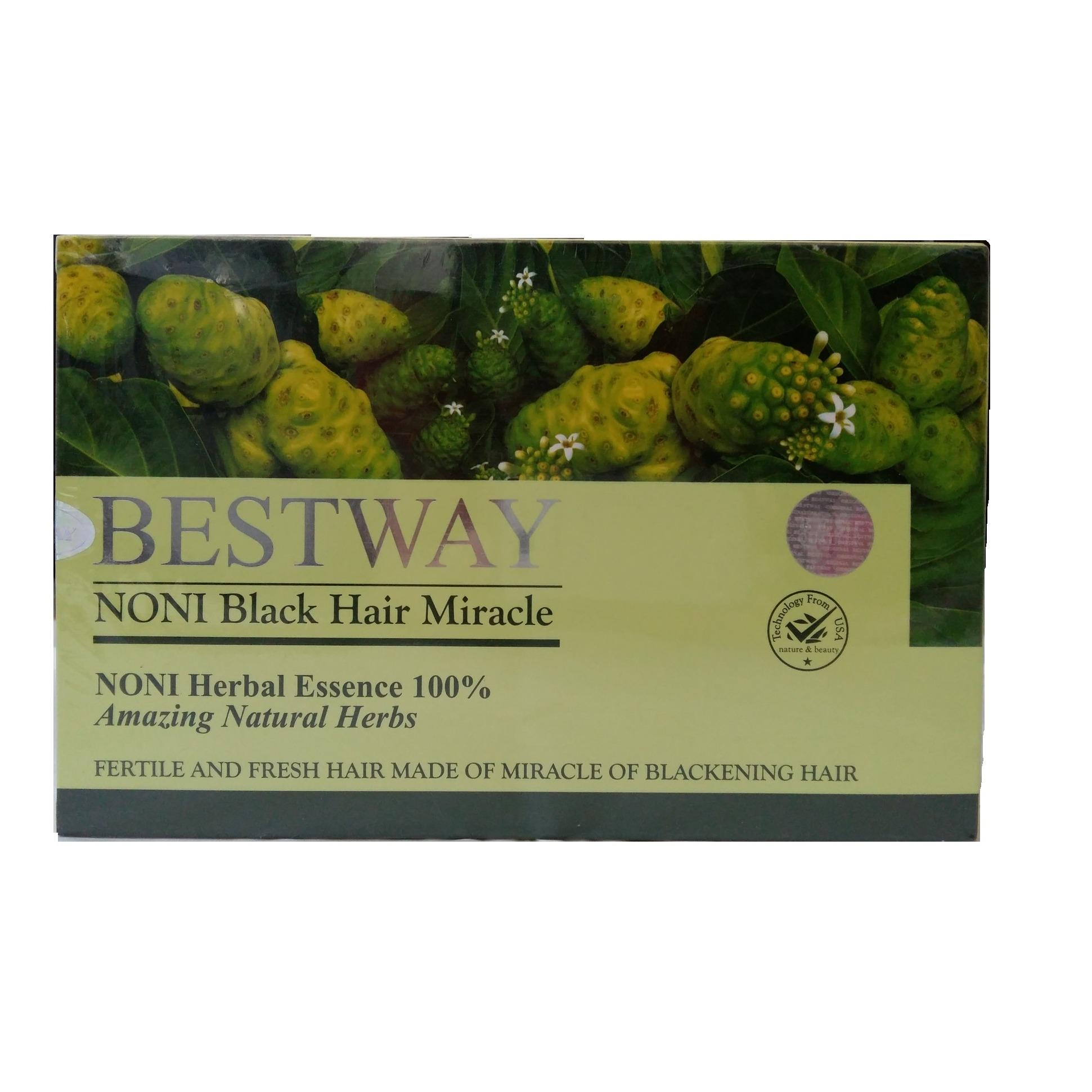 Shampoo Bestway NONI Black Hair Miracle 100% Herbal Essence - 1 Box