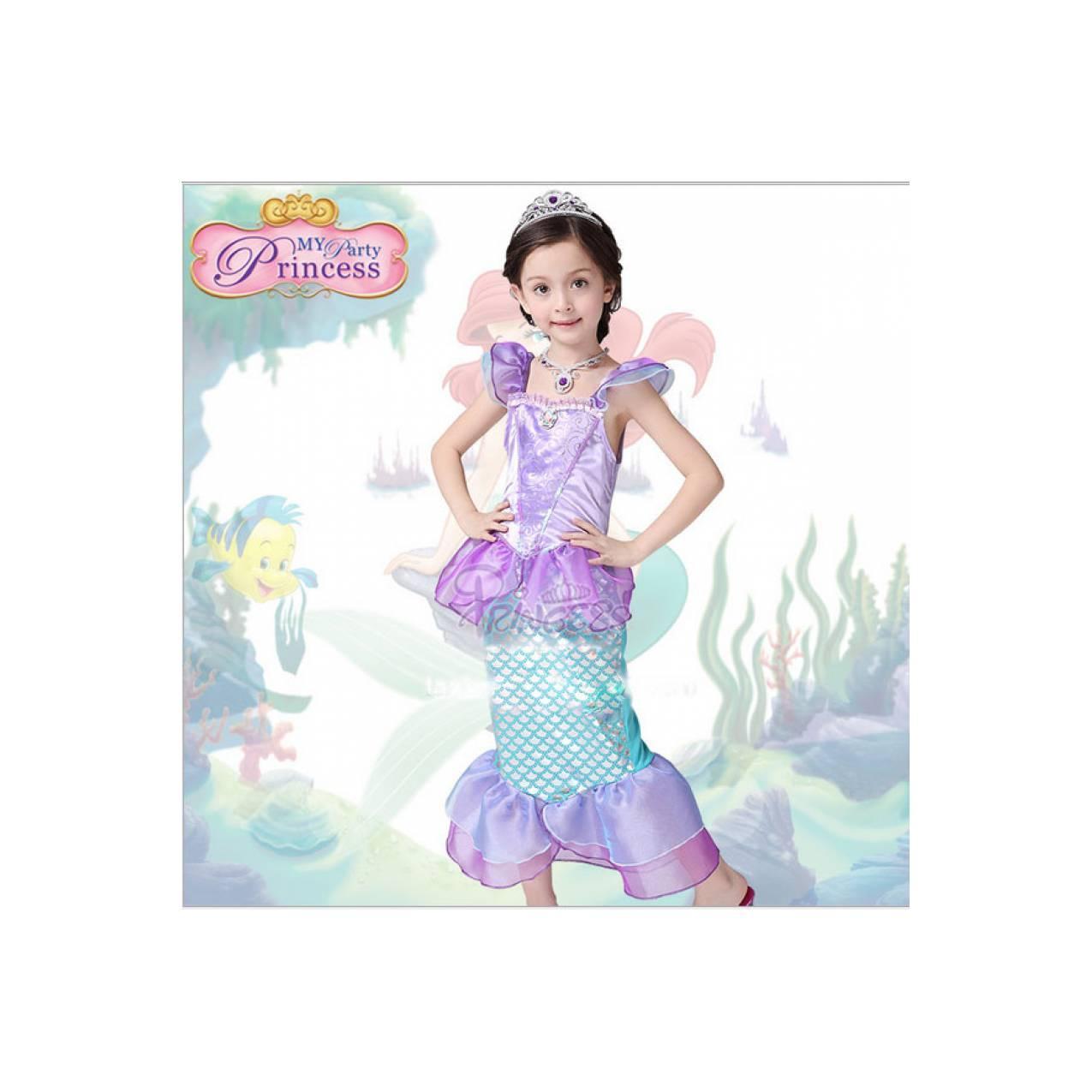 Baju Anak Princess Arial Ikan Duyung 086 model lengan pendek / Disney