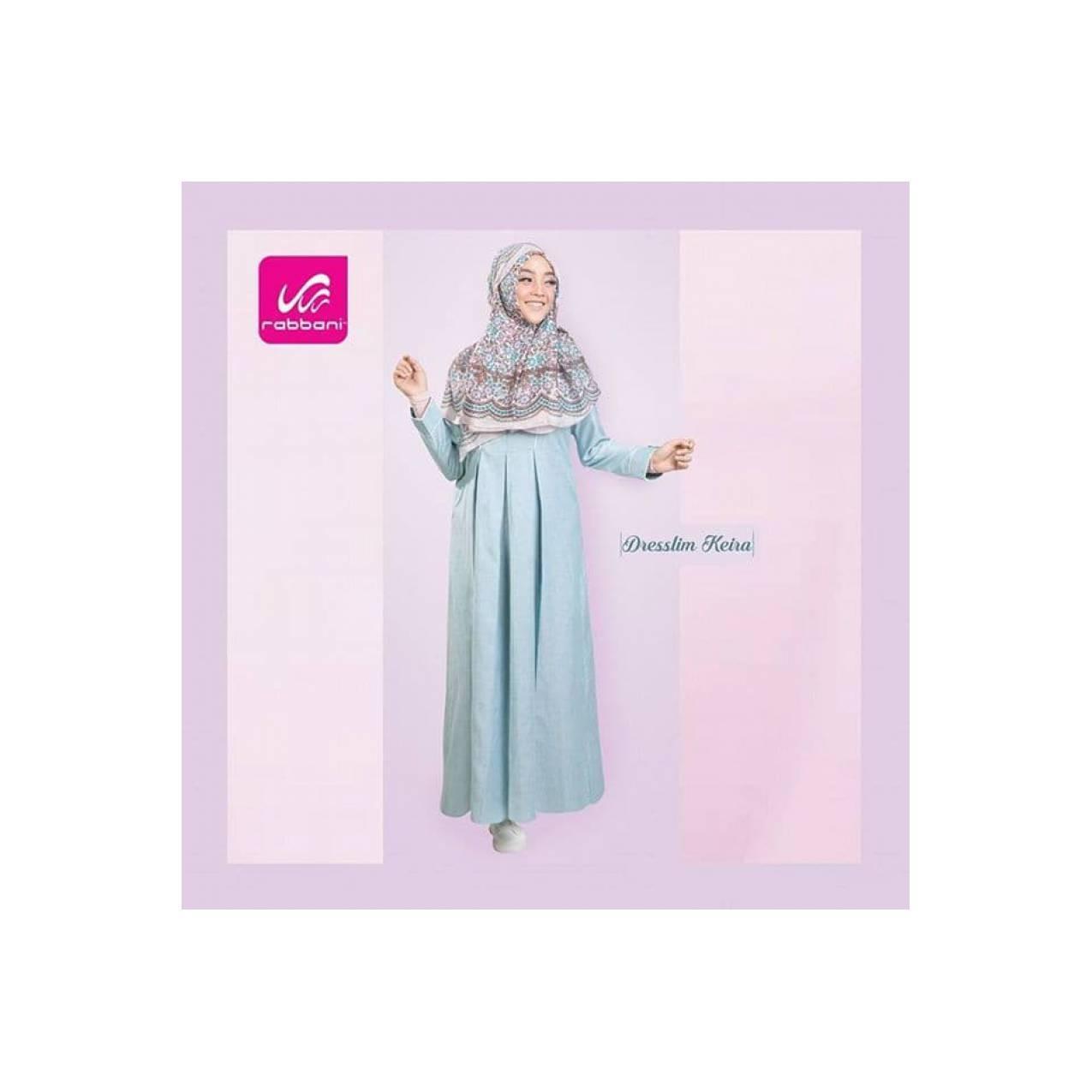 New Maxi Gamis Pesta Dress Keira Rabbani Elegan Formal dan non formal - Biru Muda M