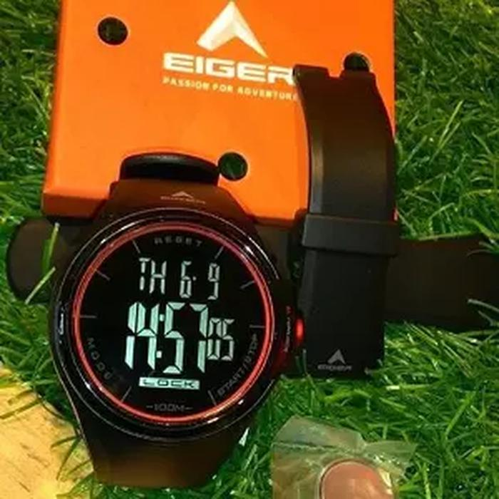 Best Seller!! Jam Tangan Eiger Touchscreen Anti Air Black Hitam Iyw0082 Original. - ready stock