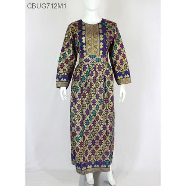 Mila Style - Baju  Gamis Batik Prodo Motif Songket Batik Printing Asal Pekalongan Katun Batik Unik E